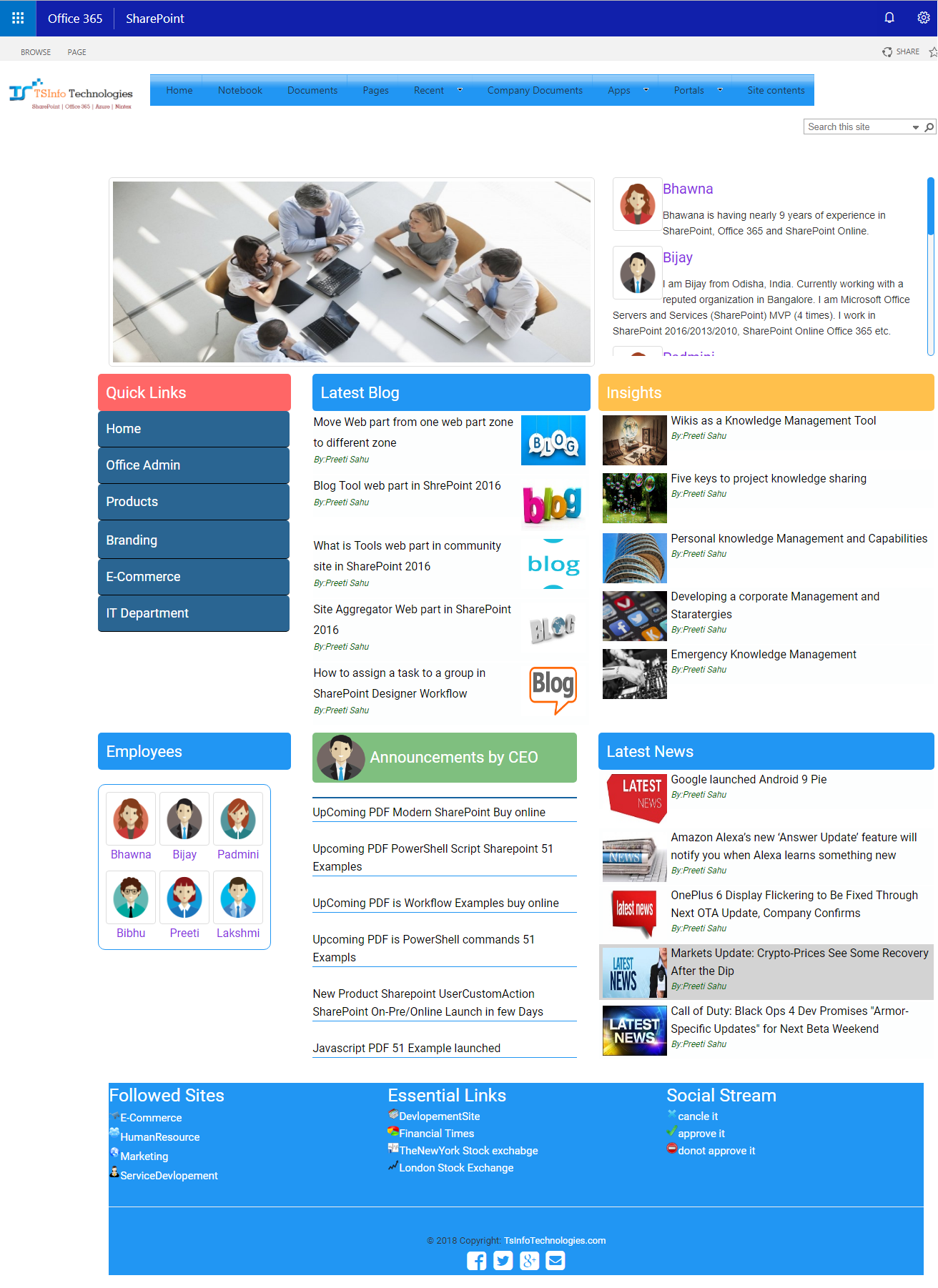 SharePoint intranet portals